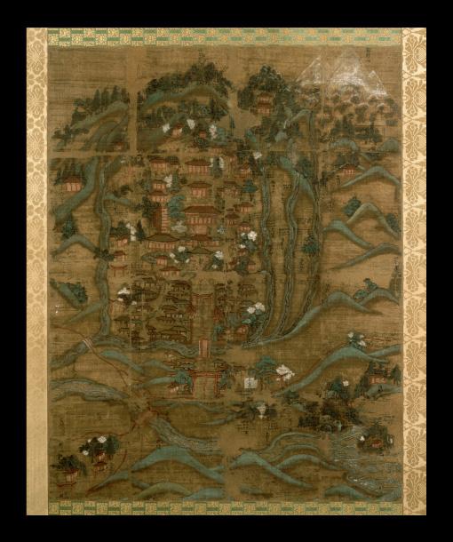 絹本著色慧日寺絵図(磐梯町)